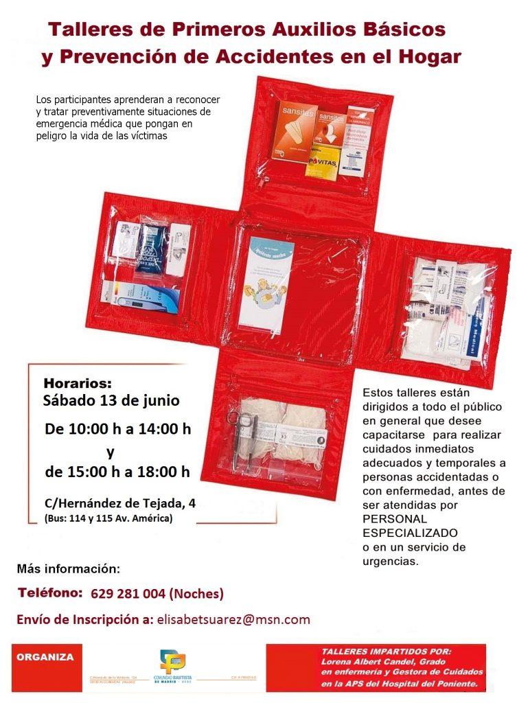 2015 Taller de primeros Auxilios basicos y prevencion de accidentes en el Hogar